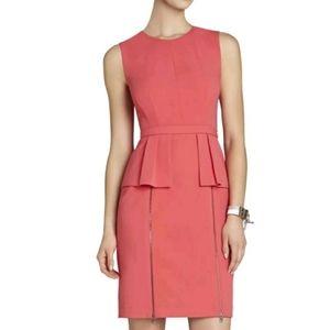 BCBGMaxazria | Ashleigh Peplum Dress Zipper Accent